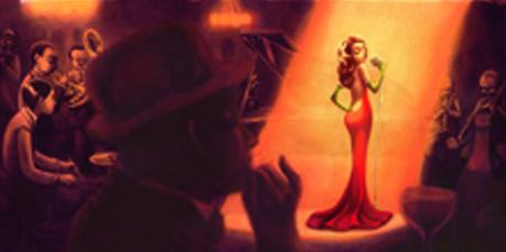 Ilustración de Benjamin Lacombe para el álbum Swinging Christmas, que aúna la literatura con el jazz. Lacombe es coautor del texto, junto con Olivia Ruiz. Edelvives publica este álbum como novedad de otoño y Navidad 2013.
