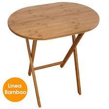 Tavolo in Bamboo Pieghevole 59,5 x 41 x 66 cm Versatile Esterno Giardino Camper