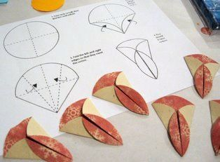 Teabag folding - circle pieces