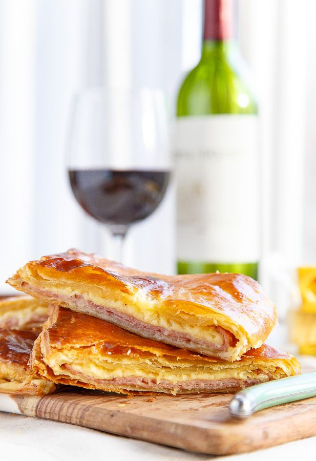 Using homemade 15-minute puff pastry, whip up these ham and cheese appetizers for your next party