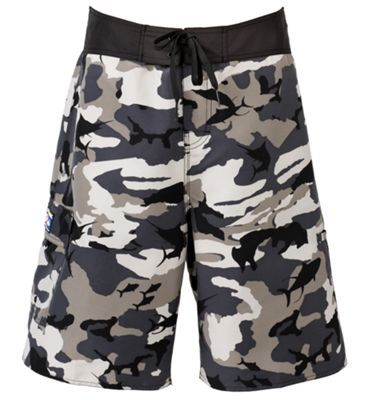 Pelagic Fish Camo Shorts for Men - Gray - 40