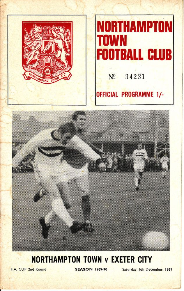 69/70 Northampton Town v Exeter City FA Cup with FLR