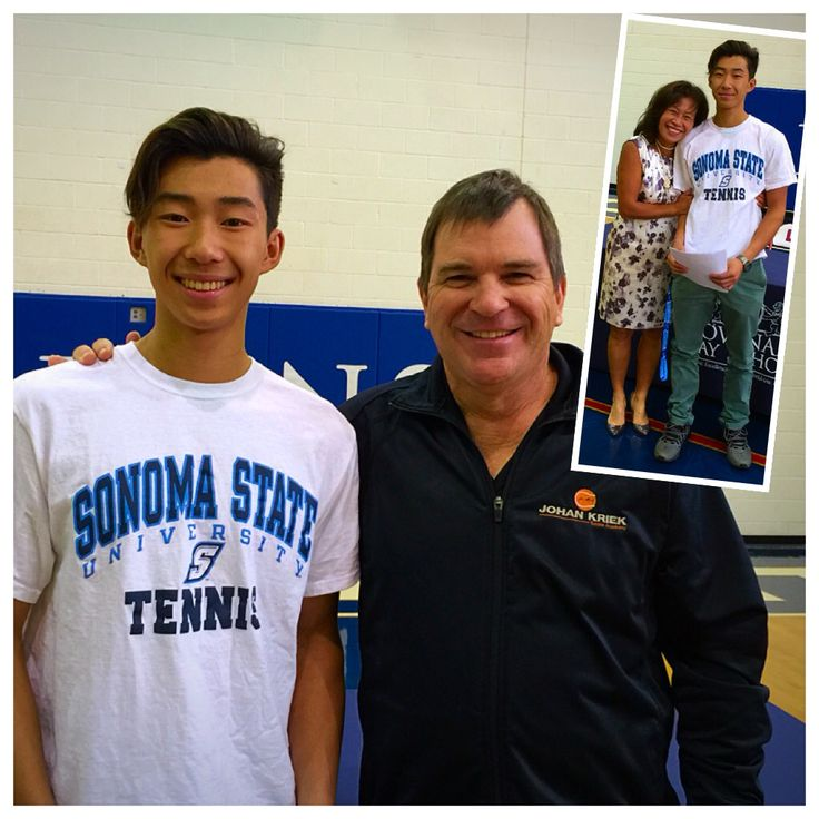 We couldn't be more proud to announce that our academy student, Allan Lock, has officially signed with the Sonoma State University in California. Helping our students make their dreams come true is what our academy is all about. All together we have now helped several players reach their dreams of becoming a collegiate tennis player. We are beyond proud of you Allan! We know your mom feels the same way! Let's keep working hard for the rest of the academy season! Congratulations Allan…