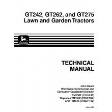 362 best john deere repair manuals images on pinterest repair john deere gt242 gt262 gt275 lawn garden tractors technical manual tm 1582 pdf publicscrutiny Image collections