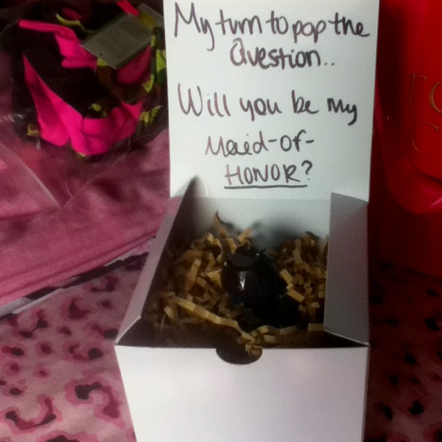 Maid of honor present(: