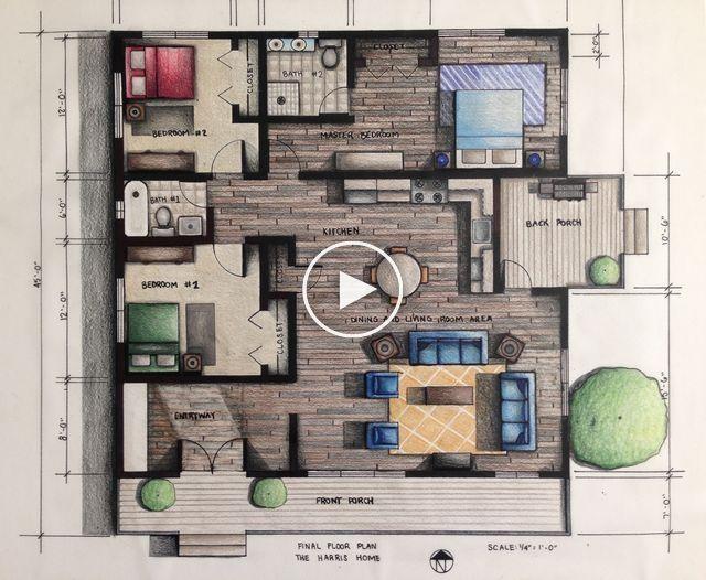 11 Spectacular Ideas For Interior Painting In Blue Sketsa Arsitektur Arsitektur Denah Lantai