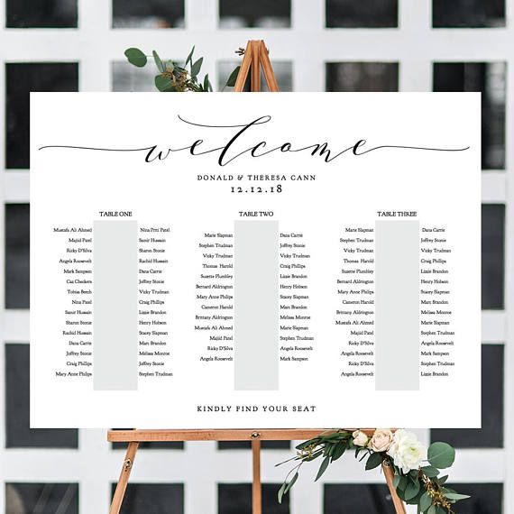 Banquet Seating Chart 3 Long Tables Banquet Table Plan Printable Template Wedding 18x24 24x36 A1 A2 Sizes Included Editable Pdf Seating Plan Wedding Seating Chart Wedding Banquet Seating