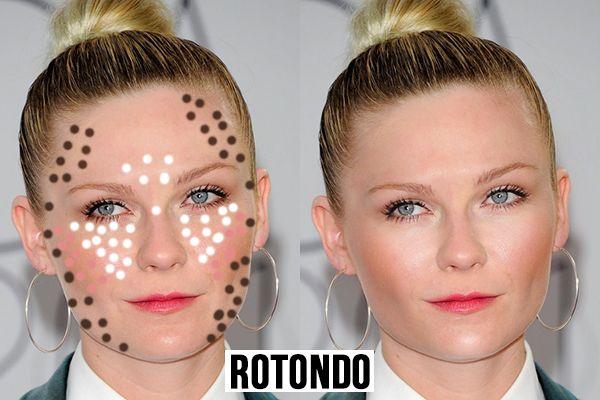 contouring in base alla forma del viso-rotondo
