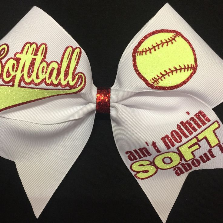 New softball bows!  It's softball season y'all!