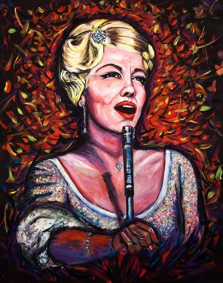 ARTFINDER: Fever  (Peggy Lee)  Jazz Diva series  by DASMANG    (Gary Aitken ) - Miss Peggy Lee is the 2nd painting in the Jazz Diva series . A famously talented  artist that is dear to me through her song and grace . I have tried to capt...