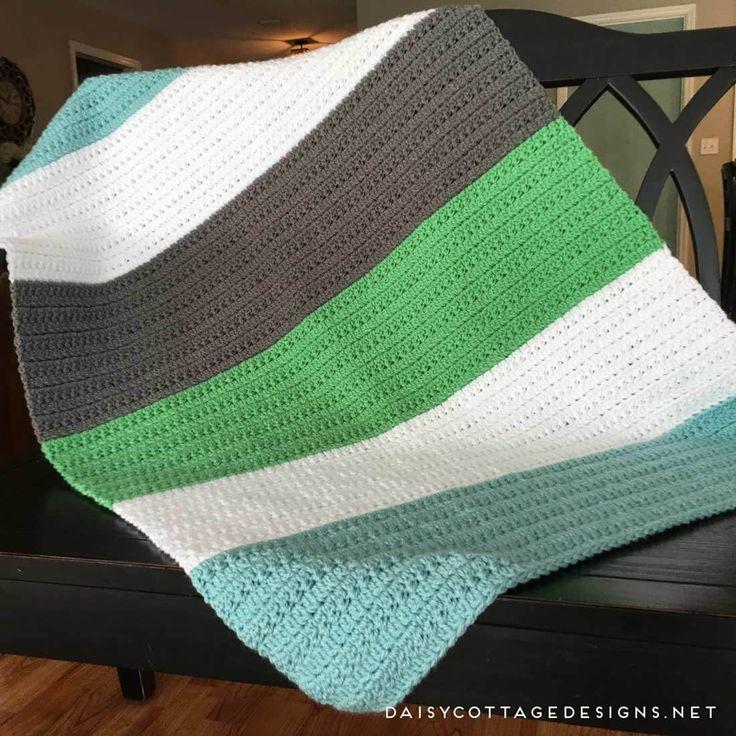 Easy Crochet Baby Boy Blanket Jerusalem House