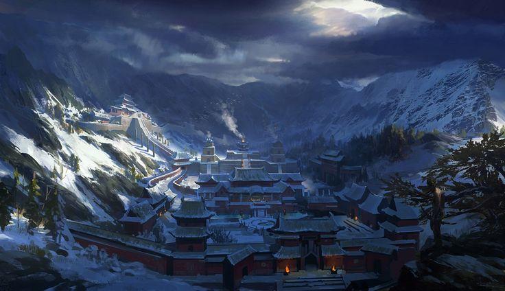 Kış Evi Dağlar Tomb Raider 2013 Lara Croft Kar Bulutu Fırtınalı Oyunlar Vill …