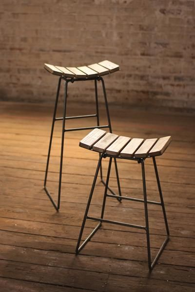 Set of 4- Metal Bar Stool with Wood Slat Seat u2014 Petal Pushers & 52 best FOR THE HOME images on Pinterest | Consoles Farmhouse ... islam-shia.org