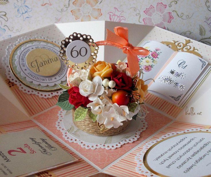 exploding box basket of flowers, cardmaking, birthday card