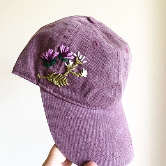 Hand Embroidered Hat custom embroidered hat floral | Etsy