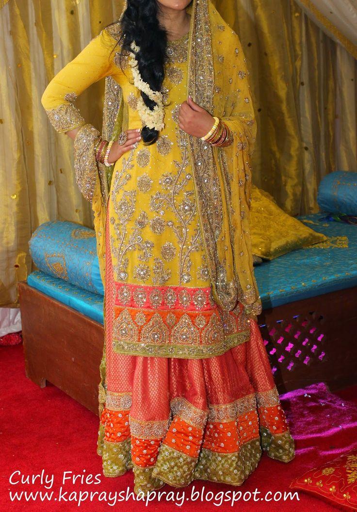 My Bunto Kazmi inspire mehndi outfit