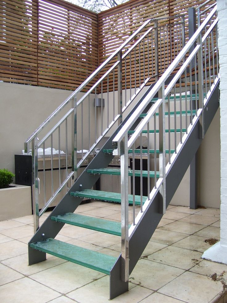 Pin by william nelson on stairs banisters metal stair - Metal railings for stairs exterior ...