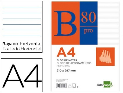 Bloc de notas Din A4 encolado Liderpapel  http://www.20milproductos.com/papeleria/blocs-y-cuadernos/bloc-de-notas-encolado-liderpapel-2.html