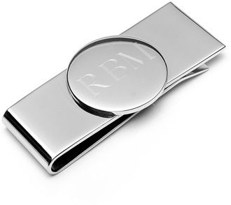 Ox and Bull Trading Co. Stainless Steel Engravable Money Clip.