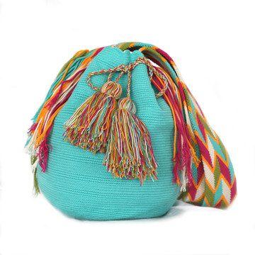 Aqua Wayuu Mochila Bag