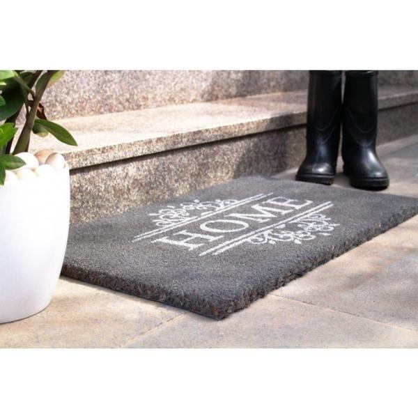 PVC Backed Coir Door Mat - Home 75x45cm  sc 1 st  Pinterest & 11 best Beautiful Coir Door Mats images on Pinterest | Door rugs ...