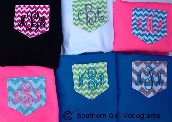Chevron Pocket Tee by SouthernGirlMonogram on Etsy, $10.00