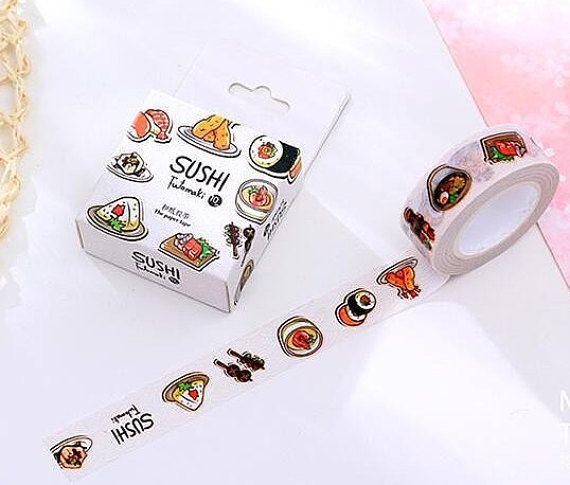 WASHI TAPE: Sushi Masking Tape Korean Stationery by LosersInk