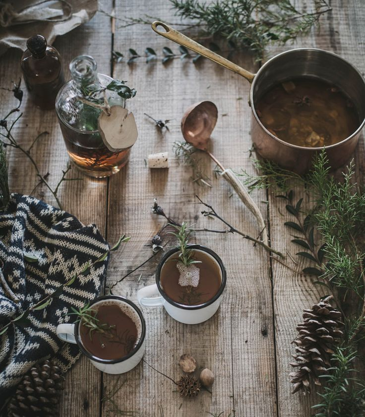 Hot Buttered Fig + Rosemary Bourbon Cider recipe by Beth Kirby | west elm: