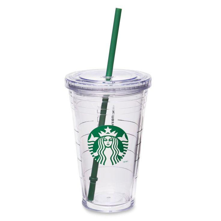 A sturdy, 16-fl oz clear plastic Cold Cup with double wall construction, updated Siren logo and reusable straw.