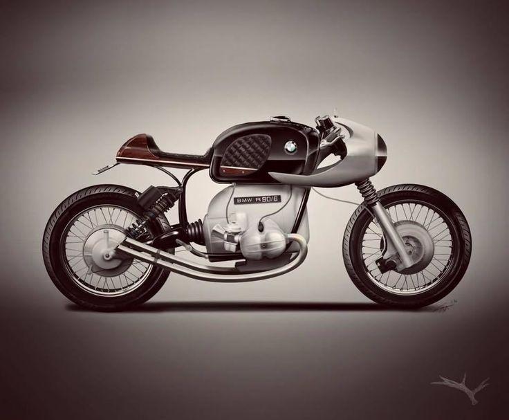 BMW R90/6 Cafe Racer concept - Elk moto Concepts #motorcycles #caferacer #motos   caferacerpasion.com