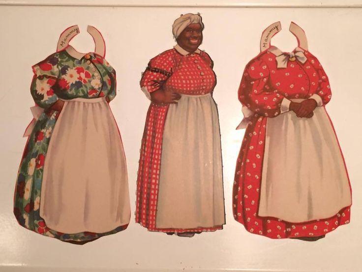 Aunt Jemima Paper Doll Black Americana Very RARE Plus 2 Outfits Mammy 1940s | eBay