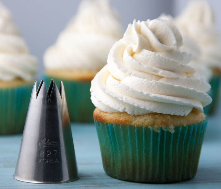 The Ultimate Guide to Learning How To Frost The Perfect Cupcake- includes tools to use, different pastry tips, step by step photo of how to fill a pastry bag, and a VIDEO of how to get the perfect swirl! Be sure to pin this now for later when you need to frost the perfect cupakes!