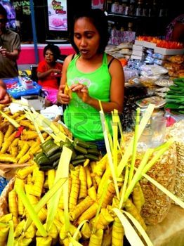 vendor: Suman o venditore di cibo in antipolo City Filippine