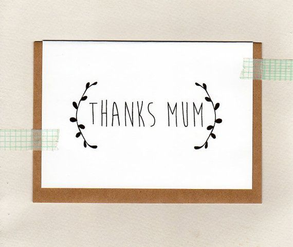 thanks mum  mom . greeting card . mothers day . by ThePaisleyFive