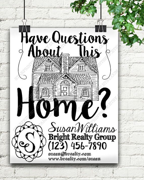 Custom Realtor Real Estate Home Information Flyer, Custom Flyer, Realtor Gift, Realtor Closing Gifts, Gift For Realtor, Custom Realtor, Art