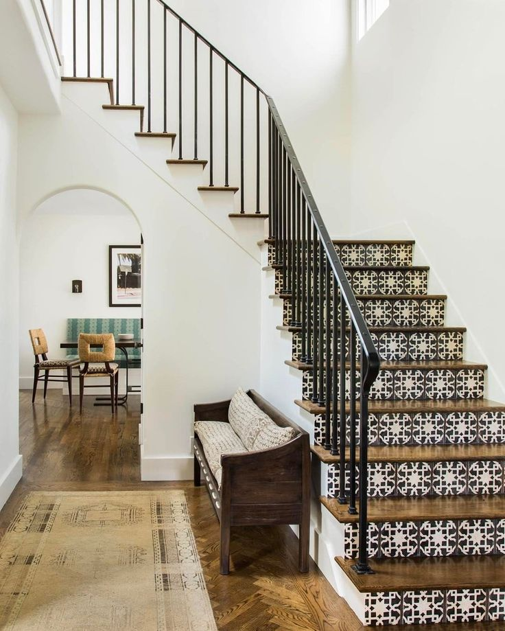 "711 Likes, 20 Comments - Jute (@jute_interior_design) on Instagram: ""Hillsborough stairs with @tabarkastudio risers #jutehome #interiordesign Lisa Romerein"""