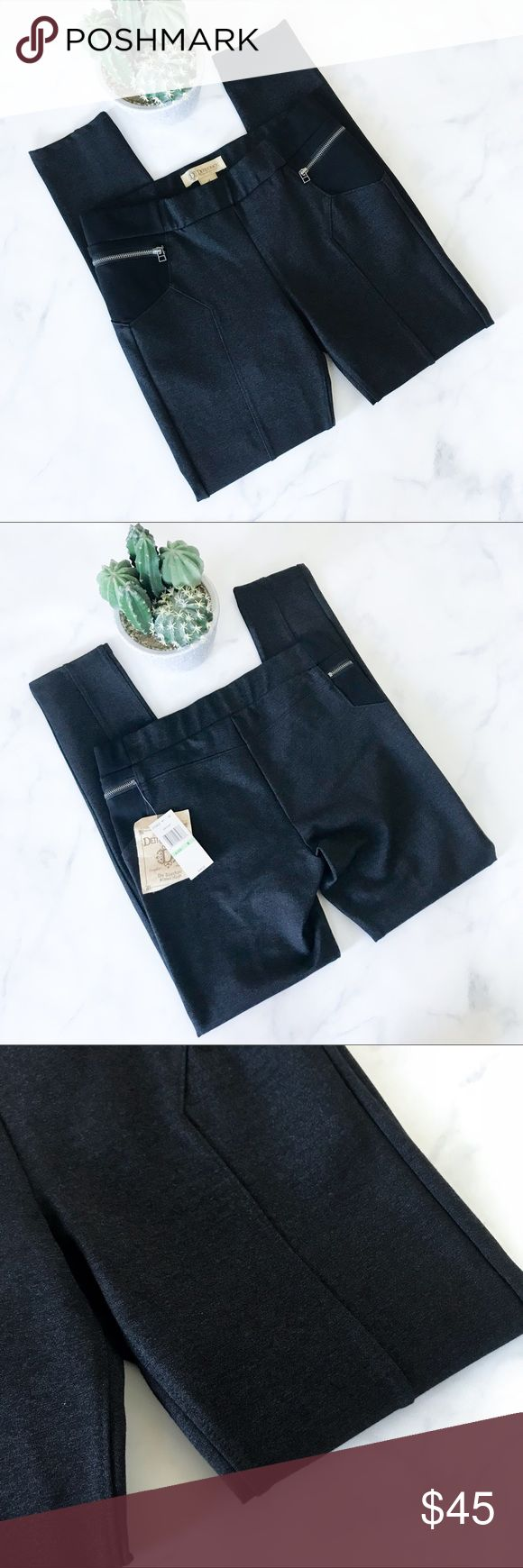 High Quality Democracy Zipper Leggings Brand new with tags! (0197)   PRODUCT DETAILS: •Size: 7/8 •Colors: Black, Dark Gray •Made in China •Measurements: Waist-14.5inch Length-37.5inch Inseam-29inch Rise-9inch •Thick High Quality Material  •68% rayon, 21% nylon, 8% polyester, 3% spandex •Machine Wash •Elastic Waistband •Zipper detailing  •Futuristic Paneling and hems •Engineered to lift, expand and embrace because all shapes are not created equal  Tags: pant legging pants club hugging…