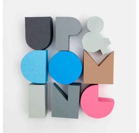 cutout 3d typography | julia guther: Colors Combos, Paper Letters, 3D Paper, 3D Character, Julia Guther, Types Design, Letters Boxes, 3D Typography, Paper Typography