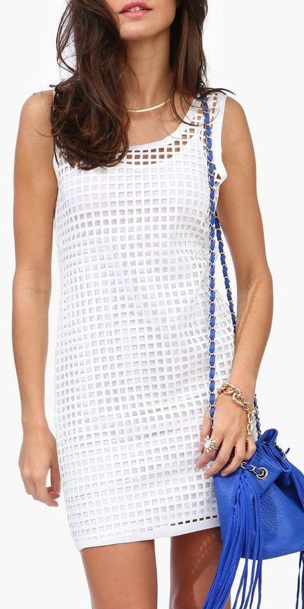 cutout shift dress