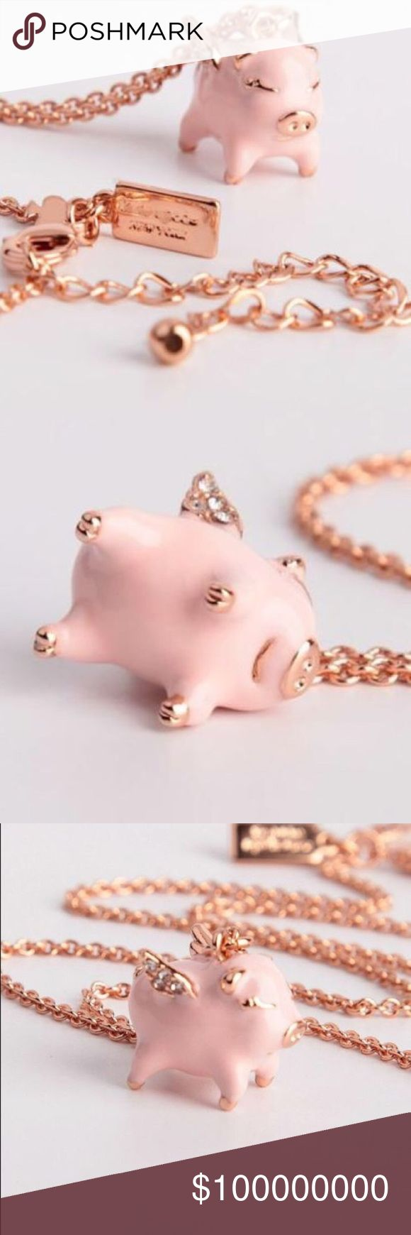 Kate Spade Imagination Mini Pig Pendant NWT, never worn. Comes in original packaging.  Retailed $84 (including tax).   No trade. Price Firm. kate spade Jewelry Necklaces