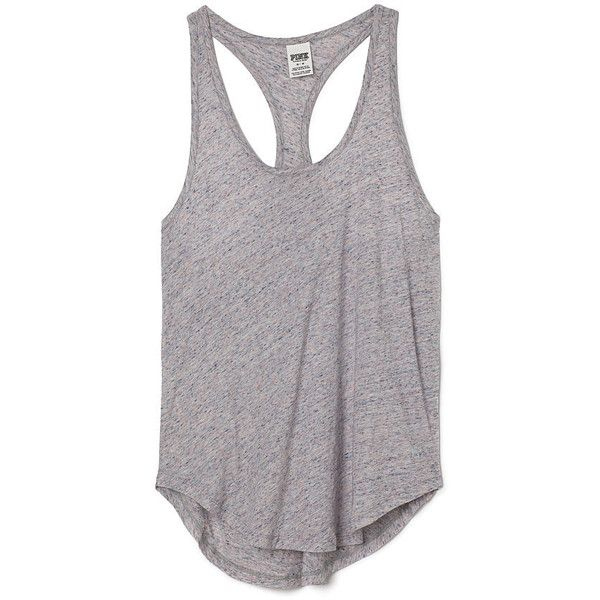 Victoria's Secret Racerback Tank,orange found on Polyvore