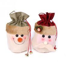 2016 Mais Recente Moda Bonito do Boneco de neve de Santa Estilo Doce Saco Do Presente de Natal Decoração de Natal alishoppbrasil