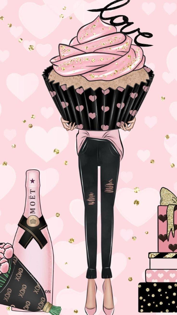 Cupcake Fashion Must Cupcakes Wallpaper Girly Drawings Fashion