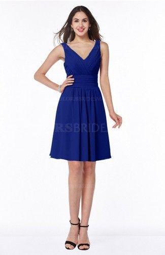 Awesome Bridesmaid Dresses Electric Blue Plain Sleeveless Half Backless Chiffon Knee Length Ruching Plus Si... Check more at http://24myshop.ga/fashion/bridesmaid-dresses-electric-blue-plain-sleeveless-half-backless-chiffon-knee-length-ruching-plus-si/