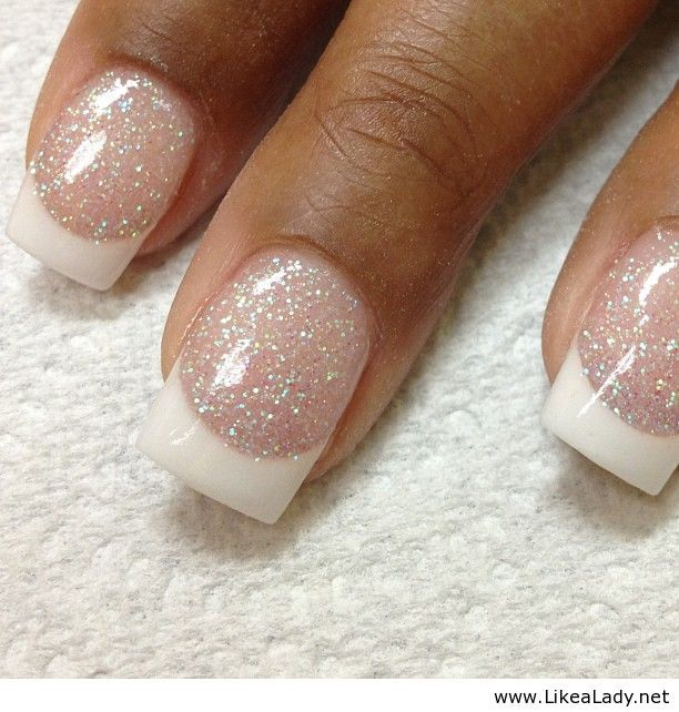 Winter-looking french manicure