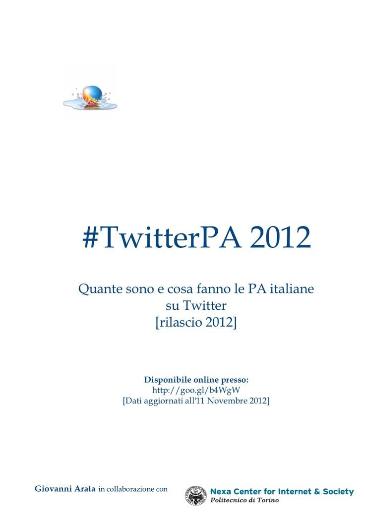 #twitterpa-2012 by giovanni arata via Slideshare