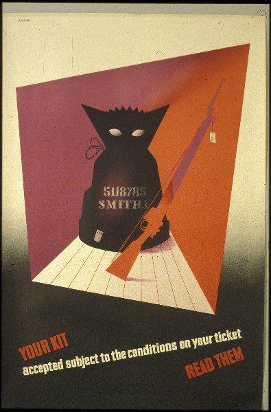 ABRAHAM GAMES..Abram Games Kit ticket army poster vintage world war two propaganda16
