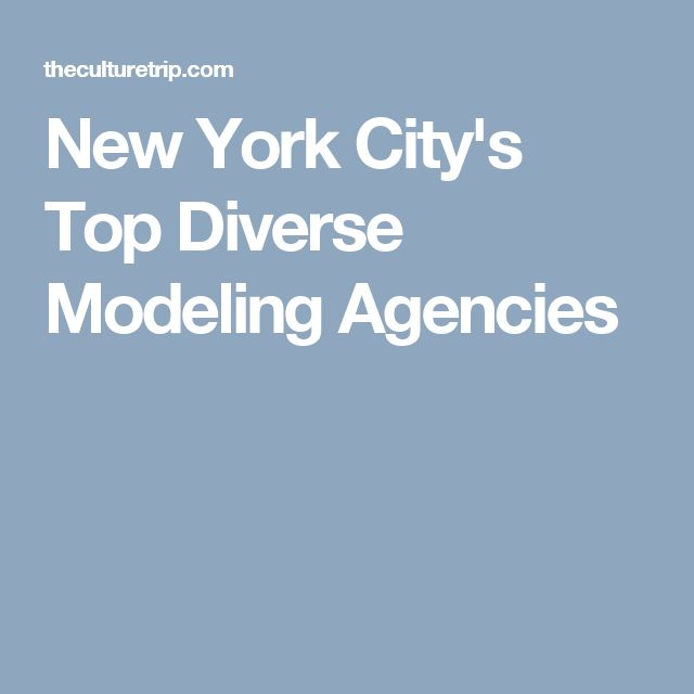 New York City's Top Diverse Modeling Agencies