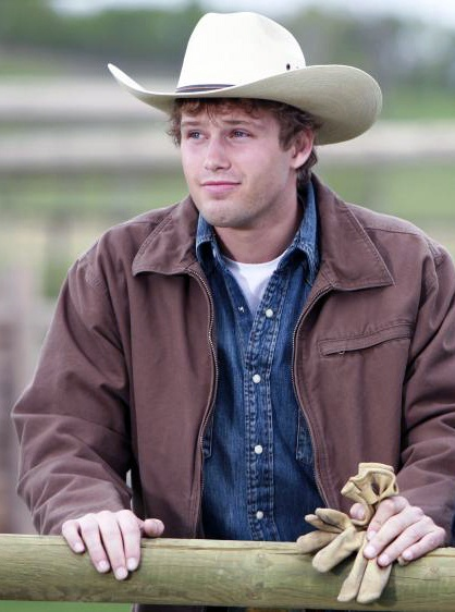 Caleb O'Dell from Heartland Season 2. A younger, cleaner shaven Caleb still trying to impress the girls.