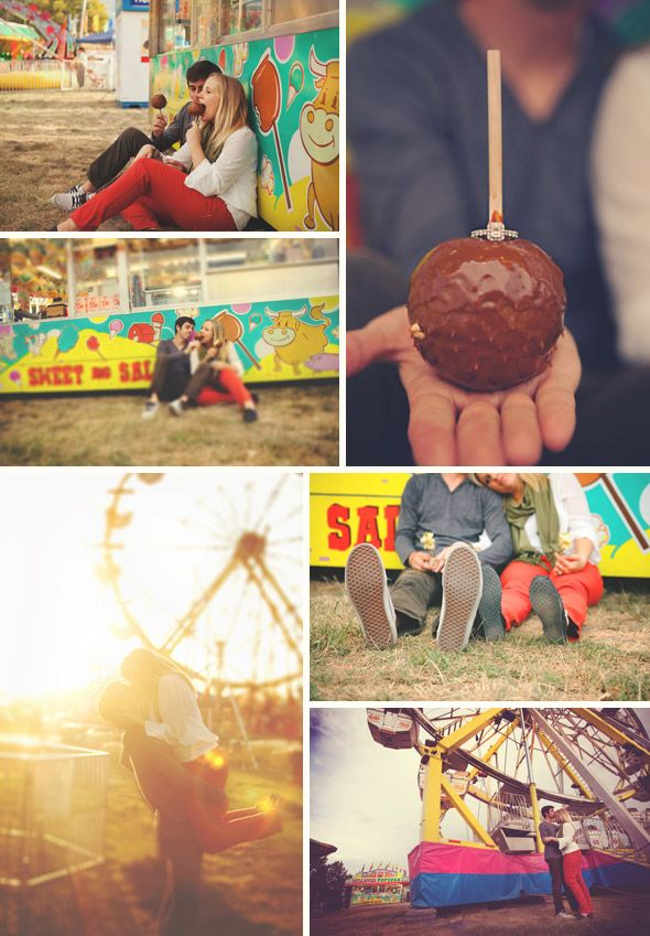 Carnival Engagement Session Wish Photography http://wish-photo.com  Chocolate Apple, Ferris Wheel